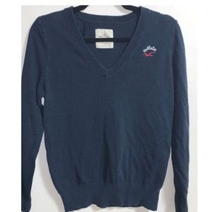 Hollister Navy Pull-over Sweater - Size Large